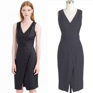 J. Crew Dresses - J. CREW Angie Charcoal Pinstripe Wool DRESS A4